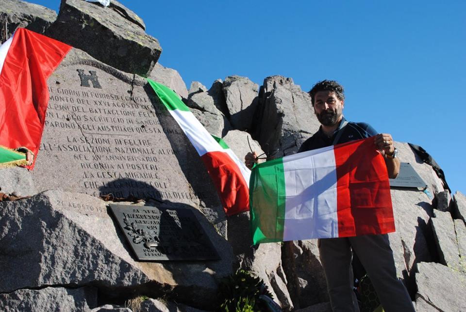 De Berardinis sul monte Cauriol