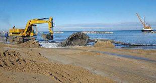 A Francavilla dopo i danni del meteo invernale arriva il ripascimento del litorale