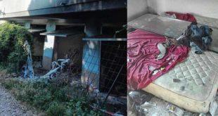 Pescara, sgombero in via Sacco: la Polizia Municipale nell'edificio privato che faceva da ricovero a senza tetto e tossicodipendenti