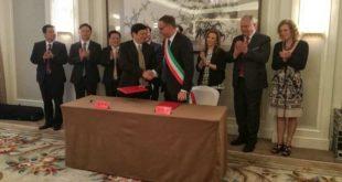 Firmata oggi in Cina l'intesa fra Pescara e la città di Fuzhou per sviluppare  rapporti economici