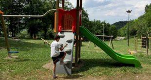 Terremoto: La CRI di Roseto dona un parco giochi a Force