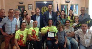 Premiato in Comune a Montesilvano il campione di tennis Andrea Silvestrone
