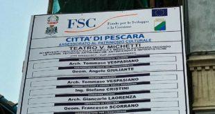 """Teatro Michetti la replica a Di Pillo dell'assessore Di Iacovo : """"Al lavoro per procedere al secondo lotto"""""""