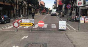 Corso Vittorio procedono i lavori. Domani chiude anche via Lago di Scanno.