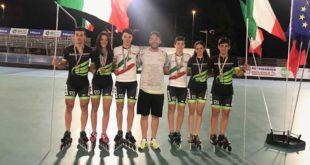 """La Rolling Pattinatori """"D. Bosica"""" di Martinsicuro seconda ai Campionati Italiani di Pattinaggio corsa"""