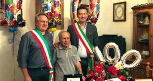 Gli auguri del sindaco Maragno al centenario Guido Di Nicola