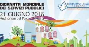 """Giornata modiale dei Servizi pubblici: A L'Aquila la 1ª edizione """"aziende servizi pubblici abruzzesi"""""""