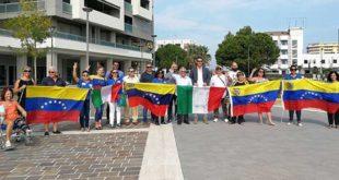 Montesilvano, Largo Venezuela, il ringraziamento dellla comunità venezuelana all'Amministrazione