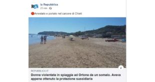 Stupro ad Ortona, Licheri (SI) critico con 'La Repubblica' chiede maggior attenzione nell'uso dei termini