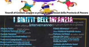 In Provincia a Pescara la presentazione della carta dei Diritti dell'infanzia dei bambini e Bambine intercomunale