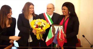 """Al Comune di Giulianova in visita istituzionale Rose Wardini, presidente associazione """"Medisol International"""""""