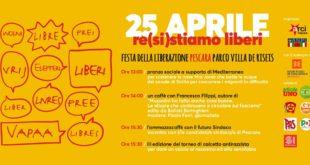 """""""25 Aprile: re(si)stiamo liberi"""", iniziative a Villa De Riseis a Pescara di ARCI ed ANPI"""