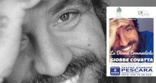"""Giobbe Covatta l'8 maggio a Pescara con """"La Divina Commediola"""", spettacolo gratuito dedicato ai diritti dei minori"""