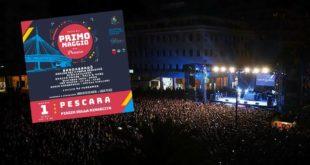 Primo Maggio a Pescara: lavoro, musica e artisti sul palco di Piazza della Rinascita