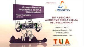 """TUA partecipa all'ExpoMove con lo studio """"BRT a Pescara: algoritmo per la scelta del mezzo ideale"""""""