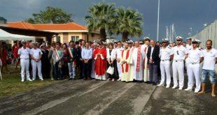 Giulianova, il Vescovo Leuzzi incontra equipaggi della Guardia Costiera e operatori del salvamento