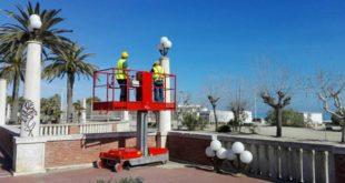 Lungomare monumentale di Giulianova: il 10 giugno verranno rimontati i primi 40 tripodi restaurati
