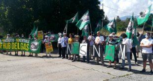 Sit-in NO Hub del Gas a Sulmona -la posizione di SNAM