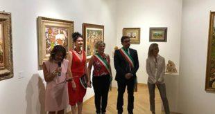 Il Sindaco di Teramo a Milano per l'inaugurazione della mostra di Annunziata Scipione