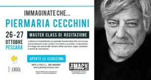 L'attore e regista Piermaria Cecchini a Pescara per formare e selezionare nuovi talenti