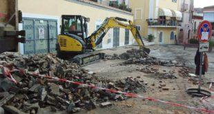 Spoltore, partono i lavori per la pavimentazione in piazza D'Albenzio