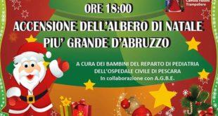 FESTA A PIANELLA PER L'ACCENSIONE DELL'ALBERO PIU' GRANDE D'ABRUZZO