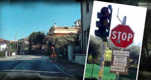 A Montesilvano semaforo guasto in via Chiarini, cittadini con ironia ne chiedono la riparazione