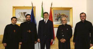 Marsilio riceve a palazzo Silone una delegazione della chiesa Ortodossa