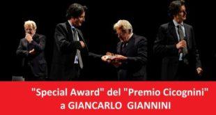 Francavilla, Davide Cavuti consegna lo 'Special Award' del 'Premio Cicognini' a Giancarlo Giannini