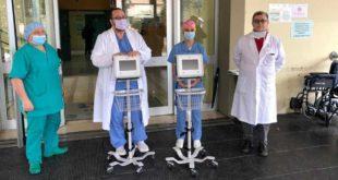Dagli imprenditori Passacqua donati due respiratori al reparto di rianimazione dell'ospedale di Giulianova