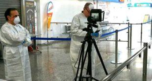 L'Aeroporto d'Abruzzo operativo per l'emergenza, in azione termo scanner di ultima generazione