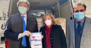 Coronavirus: la Fater consegna le prime 50 mila mascherine