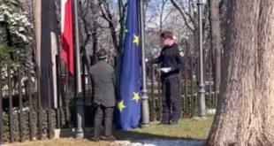 Sospiri in Consiglio regionale ammaina la bandiera dell'Unione Europea.  Critiche da D'Agresta (Art.1) e Blasioli (PD)