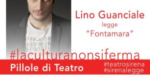 Lino Guanciale inaugura 'Pillole di Teatro' per il Teatro Sirena diretto da Davide Cavuti