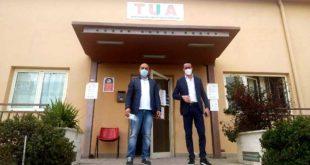 """Deposito TUA a Lanciano, visita ispettiva di Taglieri e Smargiassi """"36 bus in fermo tecnico, a settembre rischio collasso""""- Replica di TUA"""