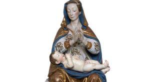 A Teramo benedizione della riproduzione 3d della statua della Madonna delle Grazie