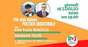 L'ora di una nuova politica industriale. Domani l'evento del PD Abruzzo con Felice e Manzella