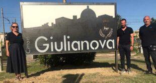 Giulianova, donata nuova insegna di benvenuto alla Città