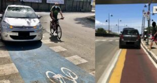 Auto parcheggiate sulle piste ciclabili. Dalla  Fiab – Pescara bici, lettera aperta al sindaco Masci e all'assessore alla mobilità