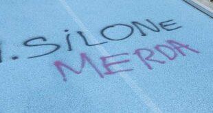 Montesilvano, Stadio Mastrangelo: vandali imbrattano la pista di atletica