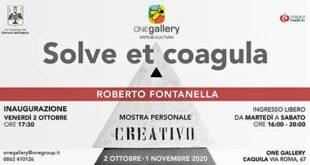 "L'AQUILA, ALLA ONE GALLERY,  ""SOLVE ET COAGULA"" MOSTRA DI ROBERTO FONTANELLA"
