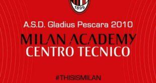 Dopo 10 anni di attività e lavoro con il Milan Academy, la Gladius Pescara è ufficialmente riconosciuto dal Milan Ac come centro tecnico
