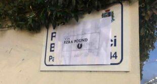 Via Berardinucci a Pescara: indignazione per la manomissione alla targa viaria