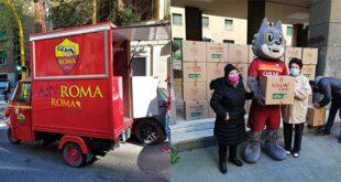Coronavirus, AS Roma e OPES insieme per consegna pacchi solidali