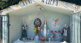 Giulianova, dopo l'assalto dei vandali  benedetta la nuova statua di San Pio