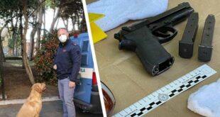 Pescara, la Polizia trova due pistole in un magazzino. Arrestata la proprietaria
