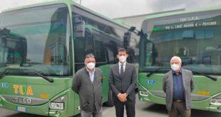 Dieci nuovi bus nel parco mezzi della TUA