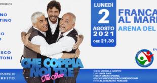 Francavilla, 'Che coppia noi tre' con il trittico De Martino-Izzo-Paolantoni all'Arena del Mare
